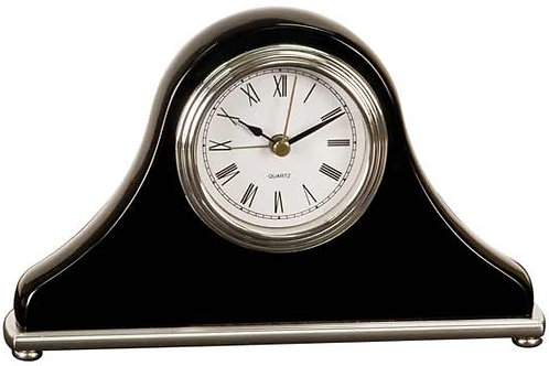 copy of copy of Rosewood Finish Desk Clock on Base with 2 Pens