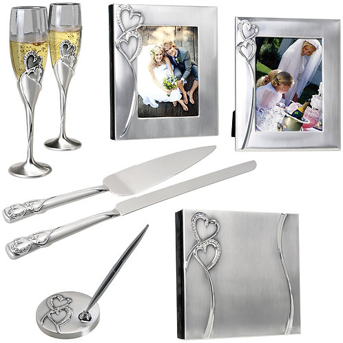 Hearts Wedding Accessories Set
