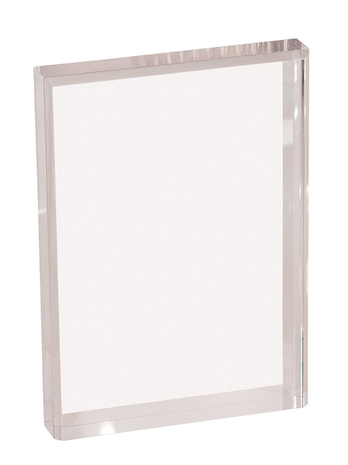 Clear Rectangle  Bevel Acrylic