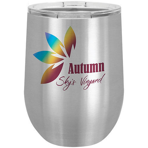 12 oz. Sublimatable Polar Camel Stemless Wine Tumbler with Lid