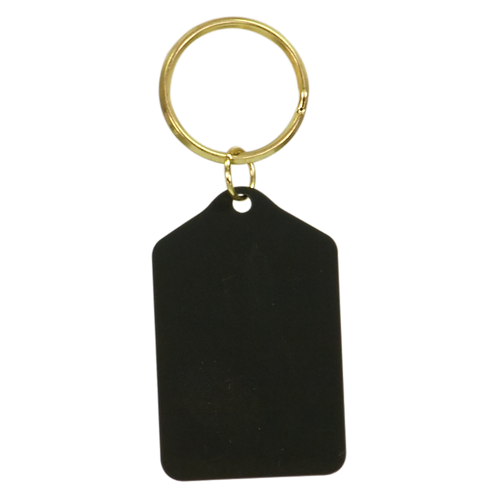 Black Brass Keychain