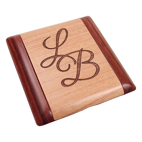 Wooden Mirror Compact