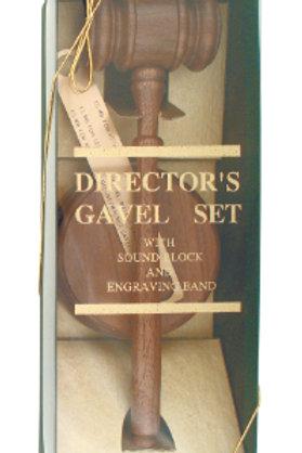 Genuine Walnut Directors Gavel Set