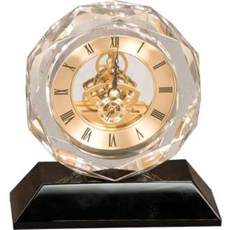 Crystal & Gold Clock