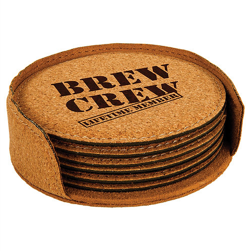 Cork Coaster Six Piece Set