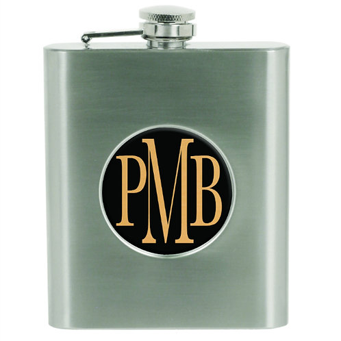 """6 oz. Stainless Steel Flask with 2"""" Insert Area"""