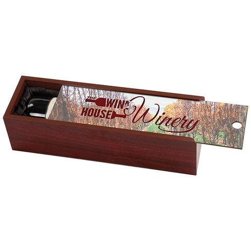 Rosewood Finish Wine Box