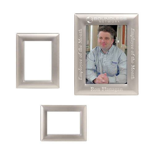 Smooth Silver Metal Photo Frame