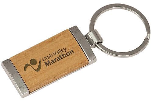 Silver & Wood Keychain