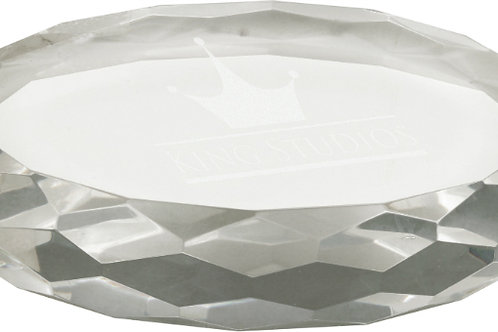 Oval Crystal Paperweight