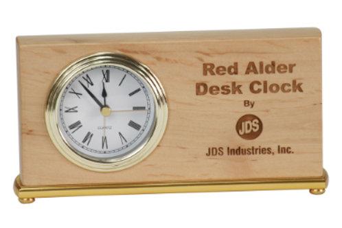Red Alder Horizontal Clock