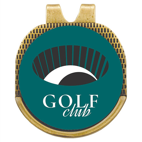 Hat Clip with Golf Ball Marker