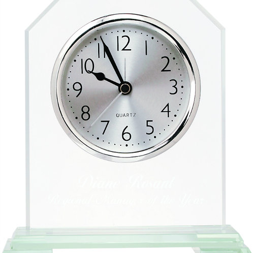 Glass Clock with Base