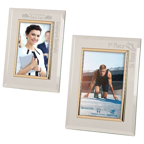 Glass Mirror Picture Frame