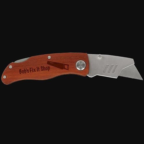 Wood Handle Utility Knife