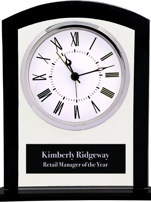 Square Arch Clock with Black