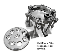 multi round filter housing - with words