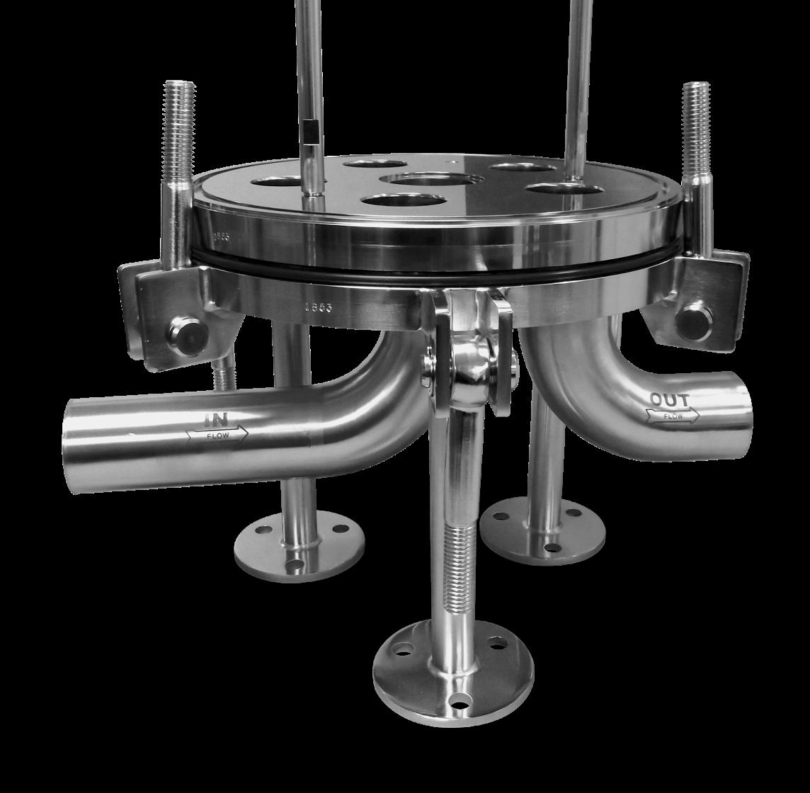 5 round filter housing base