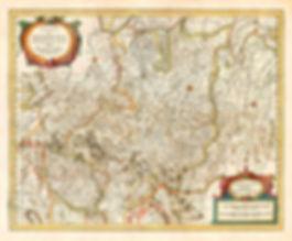 Granducato di Modena, antica mappa di vie e cammini
