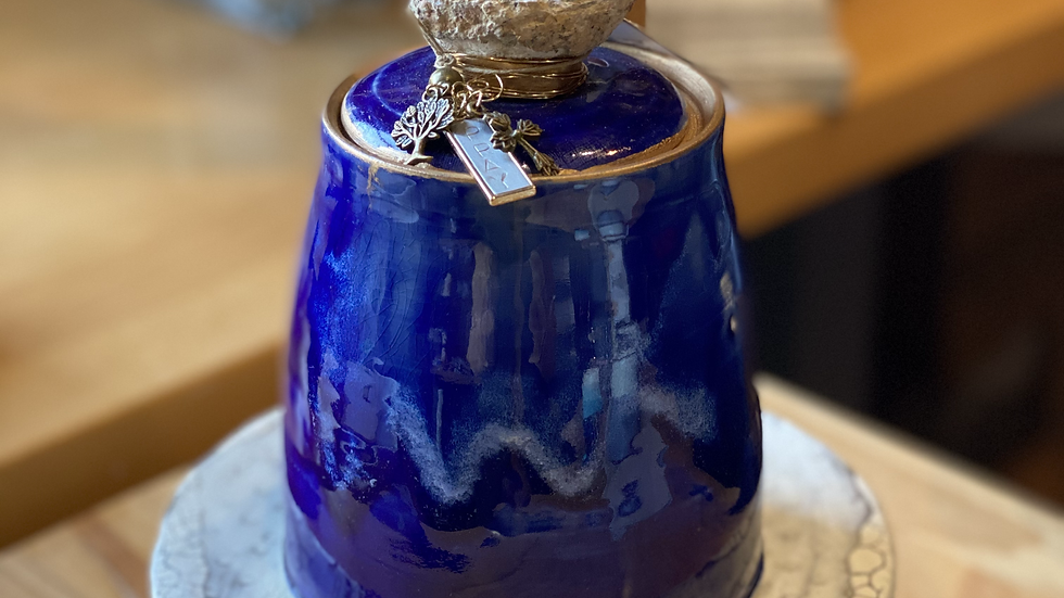Prayer Jar in Cobalt Blue