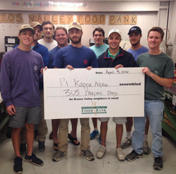 Pike Brothers help out at Brazos Valley Food Bank