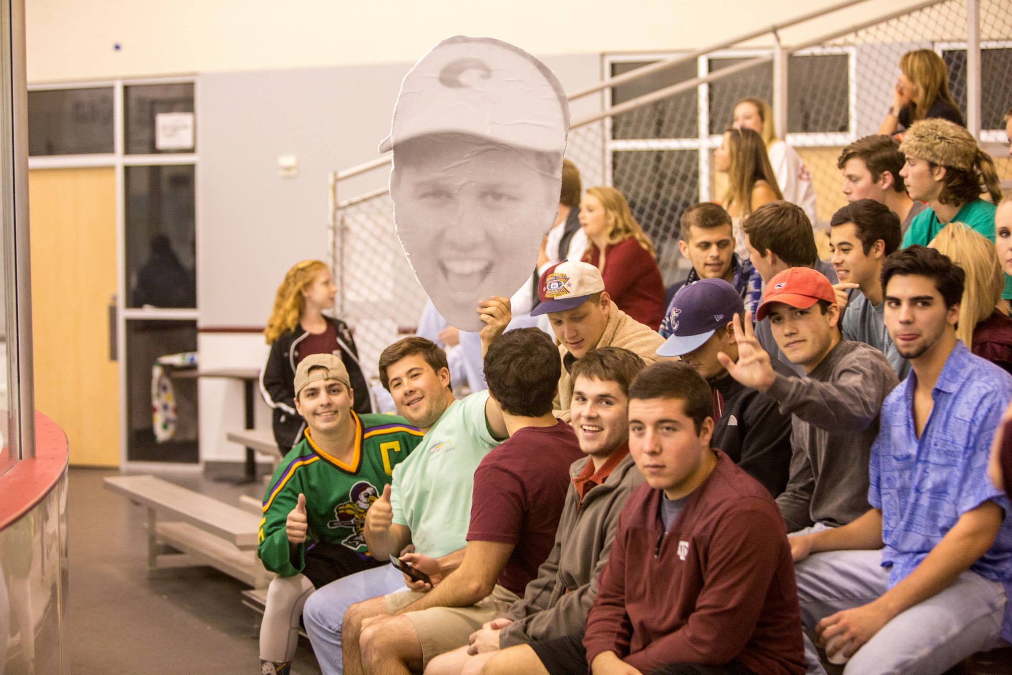 Pikes support their brother at Hockey Game