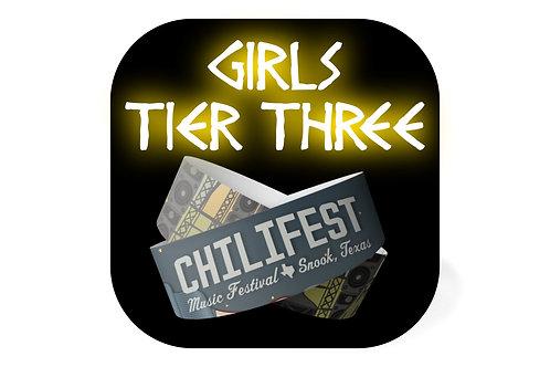 Girl Ticket | Tier Three