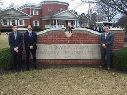 Brothers De Beer, Wright, and Robeson visit the National Headquarters in Memphis Tennessee