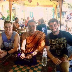 Brothers Williams and Gale enjoy Thailand