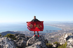 Brother De Beer atop Table Mountain, Cape Town, South Africa