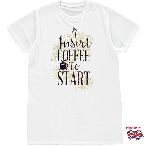 Insert coffee to start