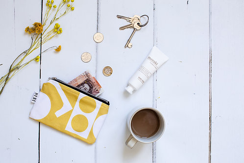 Yellow Shapes Coin Purse