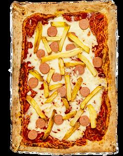 Pizza wurstel e Patatine parma