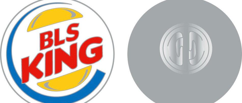 BLS king lapel pin