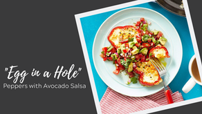 """Egg in a Hole"" Peppers with Avocado Salsa"