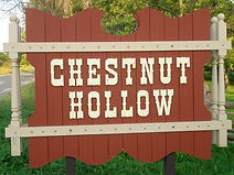 Chestnut Hollow, Sign made on site by Jerry Peters Sr & Jerry Peters Jr.