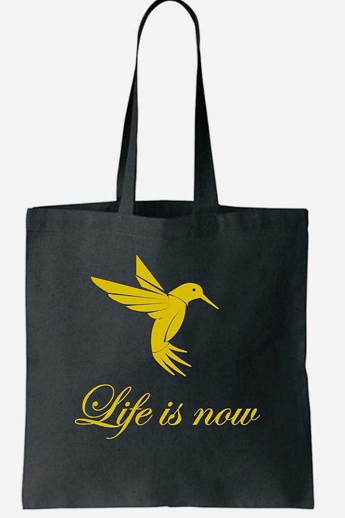 Black Tote bag - with gold print