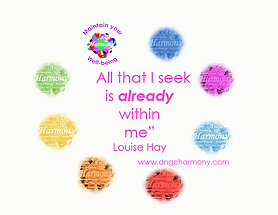 angeharmony - Louise Hay quote and AH co