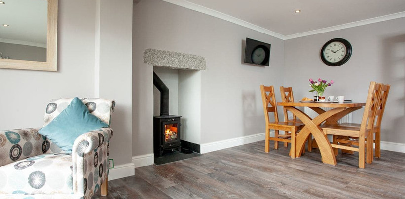 Open Plan area with Woodburner