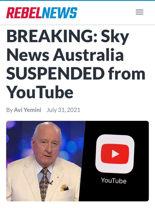 Sky News Banned from You Tube