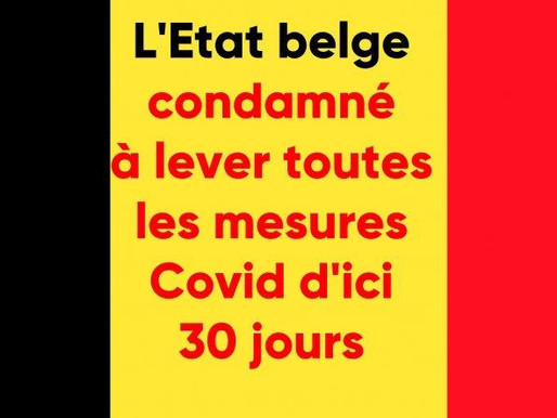 Belgian state ordered at first instance to lift all Covid measures within 30 days