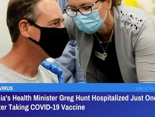 Greg Hunt Australian Health Minister - A lesson for us all