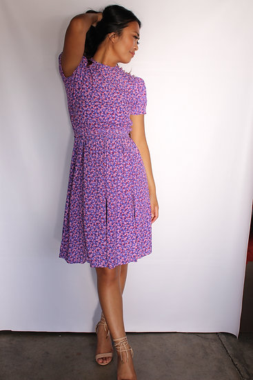 70's Rayon Floral Dress