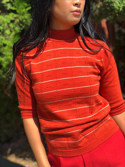 70's Rustic Ribbed Sweater