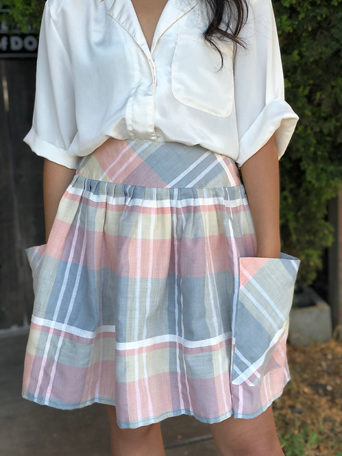 Lisa's Gingham Full Skirt