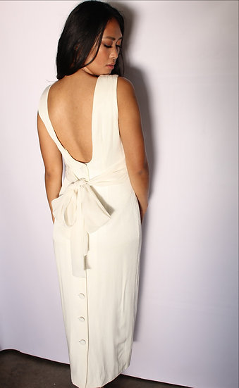 Pearl White Evening Dress