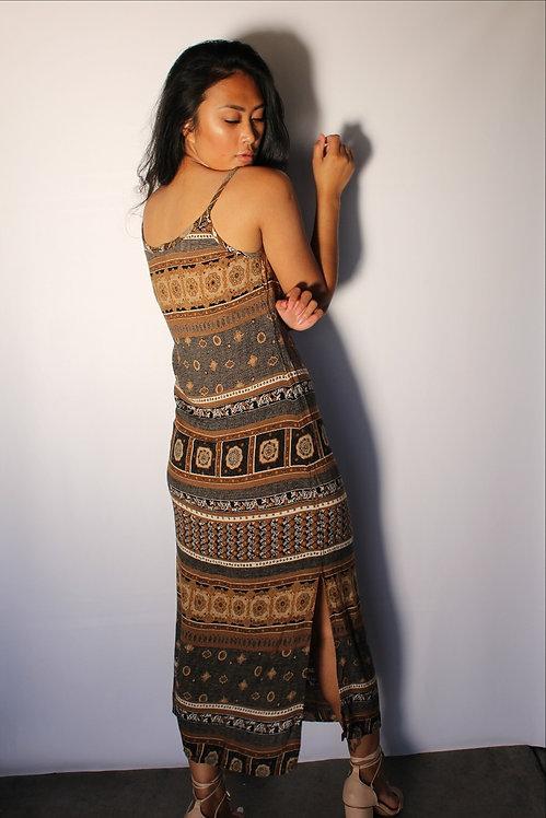 90's Ancient Maxi Dress