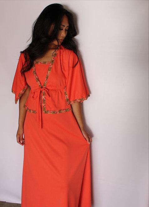 Romantic Juliet Coral Dress
