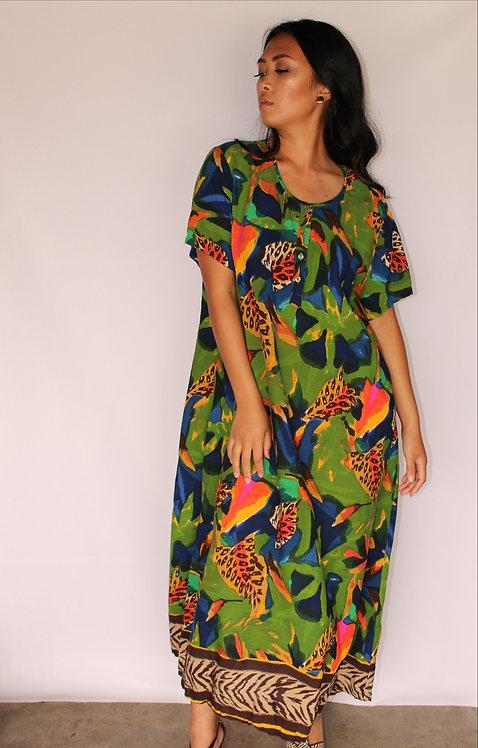Safari Print Tunic Dress