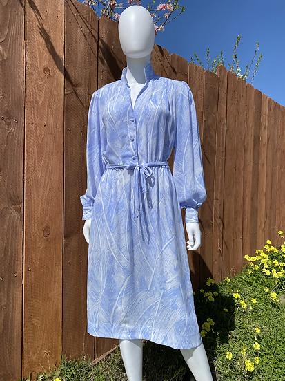 Ciel Blue Chiffon Dress